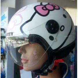 Casco Hello Kitty - Bianco / Rosa - S