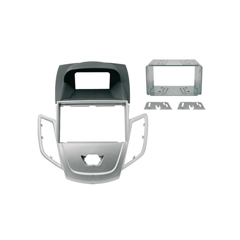Mascherina 2DIN argento Ford Fiesta 2008 ►