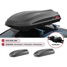 Free box ADAMANTIS 550 Litri nero Dual-Side ABS